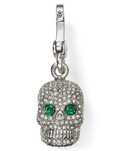 Juicy Couture Charm Pave Skull Silvertone NEW - $67.32