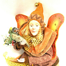 Vintage Autumn Fairy Pixie Forest Fall Thanksgiving Doll - $51.68