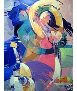Hessam Abrishami: Time to be Together; Signed Print - $2,750.00