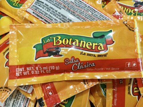 Primary image for 25 Salsa Botanera Clasica Picante Hot Sauce pakets to go 10g each