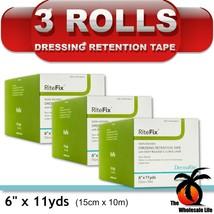 "3 Rolls - RiteFix 6"" x 11 yards Dressing Retention Tape Non-Woven Fabric - $32.06"