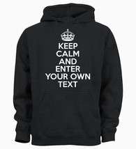 PERSONALISED YOUR TEXT KEEP CALM AND CUSTOM Kids Hoody Hoodie Youth - $19.29
