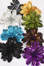 Jumbo Sequin Flower Hair Clips (set of 13 total) - €51,93 EUR