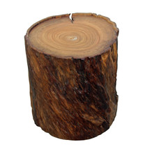 Chinese Natural Camphor Thick Wood Stem Rough Stool Table cs3523 - $895.00