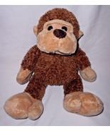 JC Penney Chosun Monkey Plush Stuffed Animal Big Feet Brown Tan - $19.77