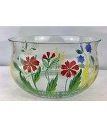 Vintage Hand Painted Large Bowl Romania - $18.70