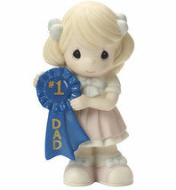 Precious Moments Girl #1 Dad Figurine Blue Ribbon Number One NWOB  - $35.63