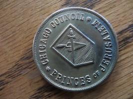Chicago Council Princes Of Jerusalem A.A.S.Rite Masonic Token Coin Medallion - $23.75