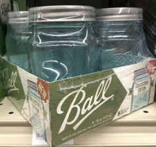 Ball Collectors Edition 4 Glass Mason Jars Regular Mouth 16 oz - $24.75