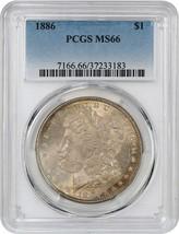 1886 $1 PCGS MS66 - Morgan Silver Dollar - $242.50