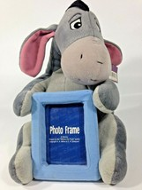"Eeyore Plush Photo Picture Frame 3x4 Disney Store Pooh Friend Stuffed Animal 10"" - $28.45"