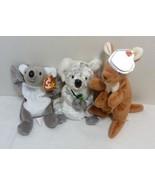 TY Beanie Babies Lot of Three (3) Australian Animals: Pouch, Mel & Bonzer - $13.98
