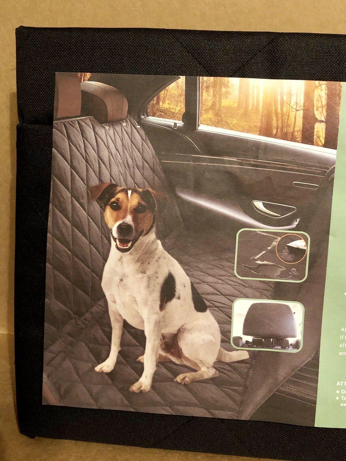 Car Pet Seat Cover Dog Cat Black 58x54 Heavy Duty Nonslip Back Velcro Closure
