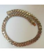 Vintage Crown Trifari Necklace Des Pat 143349 Honeycomb Pattern Chain Choker - $74.25
