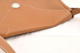 HERMES Christine Shoulder Bag Leather Brown Auth 5676 image 6