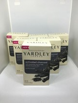 6 Yardley London Naturally Moisturizing Bath Bar Activated Charcoal 4.25... - $4.99