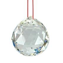 "FENG SHUI HANGING CRYSTAL BALL 1.25"" 30mm Sphere Prism Healing Sun Catch... - $5.88"