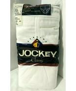 Size 38 Jockey Vtg 3 Pack Classic Men's Brief Tighty Whitey Inverted Y F... - $39.39