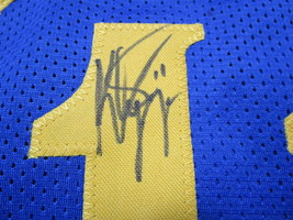 KLAY THOMPSON / AUTOGRAPHED GOLDEN STATE WARRIORS PRO STYLE BLUE JERSEY / COA image 4