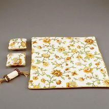 Yellow Flower Queen Bed Spread Comforter Reutter 1.829/2  Dollhouse Miniature - $27.68