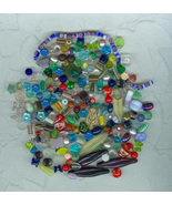 Huge Quantity Mixed Vintage Glass Beads – Over 180  - $5.99