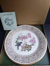 LENOX BOEHM BIRDS American Redstart Porcelain Plate 24-karat Gold - $19.79