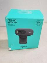 Logitech - HD Webcam C270 - Black 720p 30 FPS - $14.25