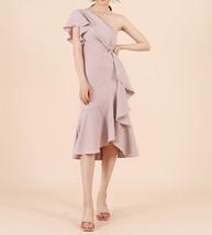 One Shoulder Midi Formal Dress Outfit Summer Wedding Bridesmaid Chiffon Dress  image 1