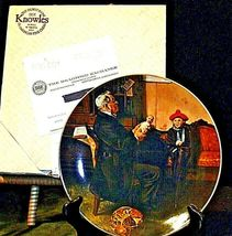 """1977 """"The Doctor and the Doll"""" Norman Rockwell Plate with Box ( Royalwood China) image 7"""