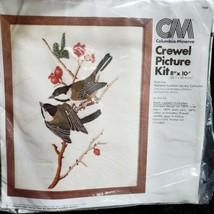 Columbia-Minerva Audubon Society Black-capped Chickadee Crewel Kit OPEN ... - $15.87