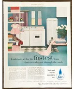 1955 American Gas Assn Print Ad Fasted Team That Ever Whizzed Through th... - $10.75