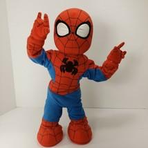 "Hasbro Marvel Itsy Bitsy Spider-Man 2006 15"" Tall Singing Plush Toy 66260 READ - $32.90"