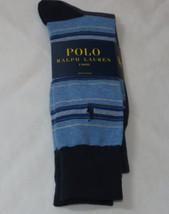 Men's Polo Ralph Lauren 2 pack Pair socks 10-13 dress casual 899677PK navy multi - $20.14