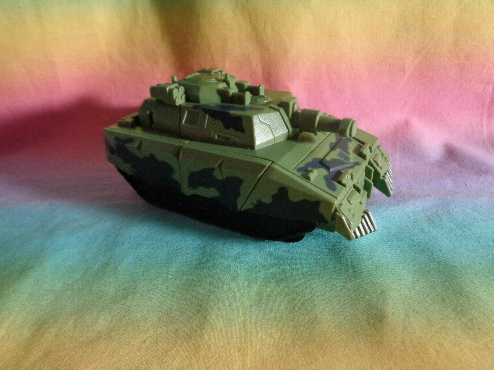 Transformers 2008 Hasbro Green Army Tank Replacement Parts - as is