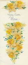 Vintage Easter Card Daffodils for Mom Glitter Gibson - $7.91