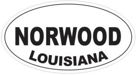 Norwood Louisiana Oval Bumper Sticker or Helmet Sticker D3984 - $1.39+
