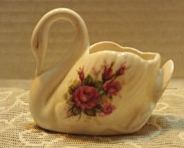 Vintage Golden Crown Bone China Made in England Swan Roses Design Cottag... - $9.75