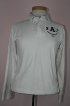 Abercrombie 100% Cotton Long Sleeve White Collerd Shirt Sz Medium - $6.97