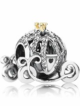 New Authentic Pandora Disney Park Exclusive Cinderella Pumpkin Coach Cha... - $37.39
