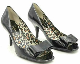 Jessica Simpson Women Pump Heels Kendale Size US 7.5B Black Patent Leather - $20.20