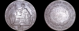 1895-A French Indo-China 1 Piastre World Silver Coin - Vietnam - $219.99