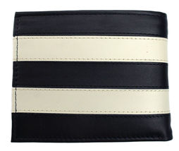 Tommy Hilfiger Men's Leather Wallet Passcase Billfold Navy Bone 31TL22X040 image 3