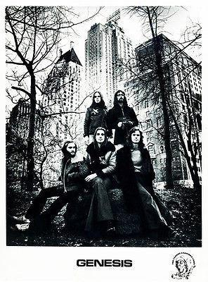 Primary image for Genesis - 1972 - Band Promotional Poster - Phil Collins - Mike Rutherford