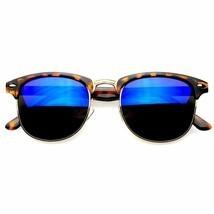 Premium Half Frame de Pasta Gafas de Sol Metal Remaches Gafas - $7.21+