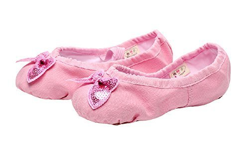 Performance Ballet Shoes/Dance Shoes For Pretty Girl (21.5CM Length)Pink Bowknot