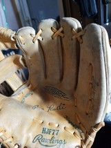 Vintage  JOE RUDI MODEL HJF77 RAWLINGS BASEBALL LEATHER GLOVE - $29.67