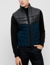 Kenneth Cole Men's Color Block Puffer Vest, Indigo Combo, Size S, MSRP $... - $59.39