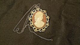 Cameo Necklace and/or Pin AB 123 Exquisite Vintage image 3