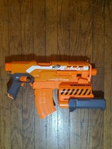 NERF N-Strike Elite Demolisher 2 in 1 Toy Dart Blaster Gun Orange Motorized - $19.95