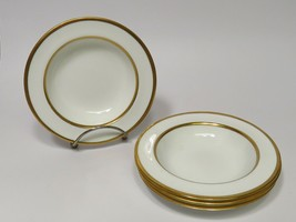 4 Antique Spode Copeland England Double Gold Band Rimmed Sauce Berry Bow... - $41.58